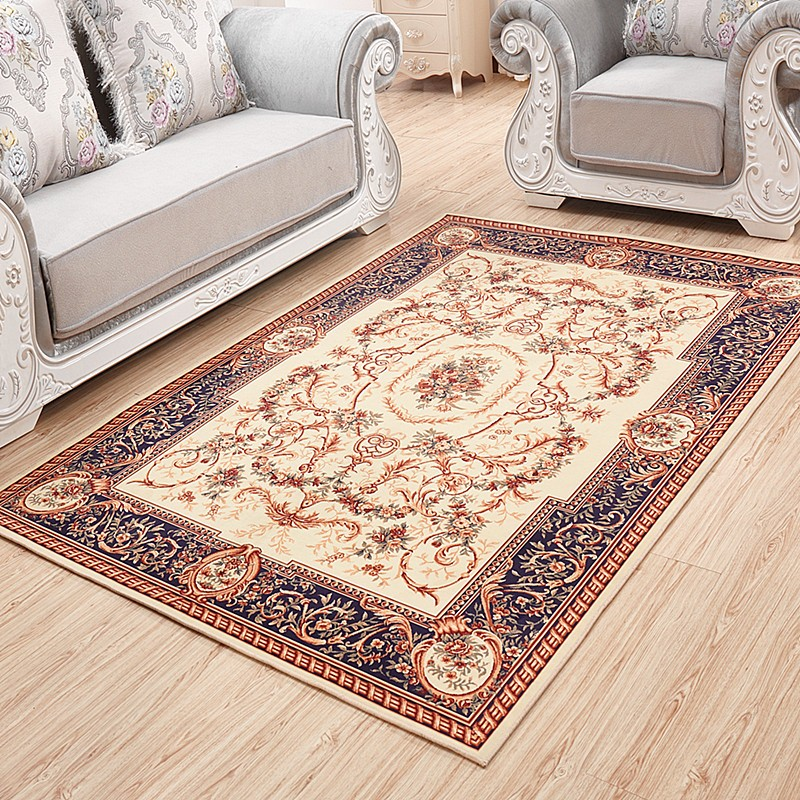 ~淘之夭夭~歐式客廳地毯臥室地毯美式法式茶幾地毯長方形大地毯混紡地毯