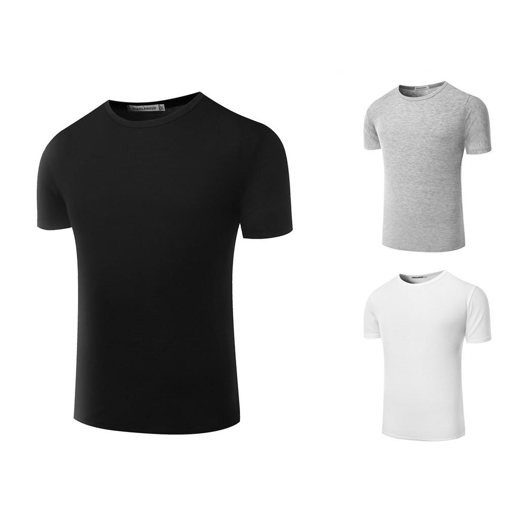 <微彈素面T 恤> 短袖T 恤男素色短袖上衣男純色圓領T 恤棉質短T 男素色內搭衣男情侶打