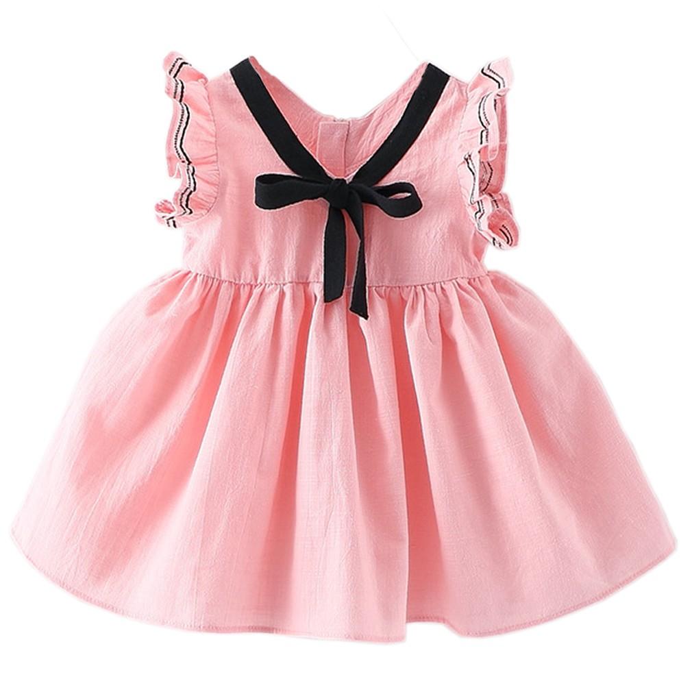 小女童寶寶棉麻紫色學院風公主連身裙6 個月3 歲洋裝