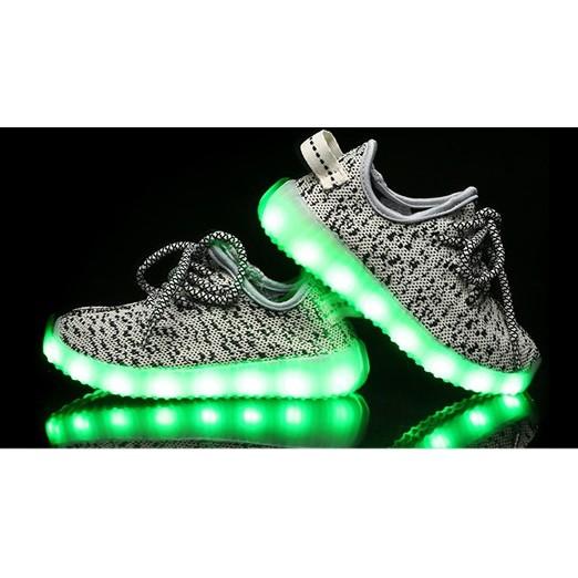 2017 年 熱款 兒童燈鞋USB 充電七彩夜光椰子童鞋LED 發光鞋炫酷發光兒童鞋