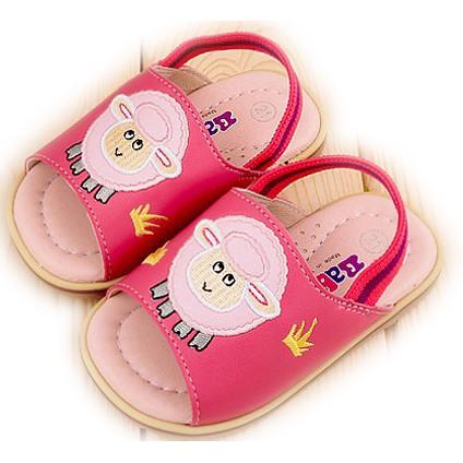 滿月舖童鞋 上市 專櫃BABYSOL 男女小童立體小綿羊軟皮後帶涼鞋拖鞋- MIT 220