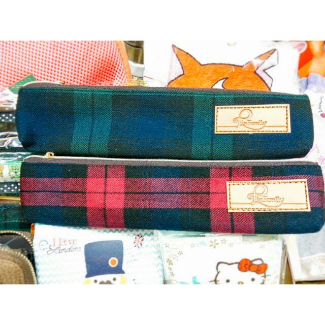 學院風格子筆袋筷袋餐具袋
