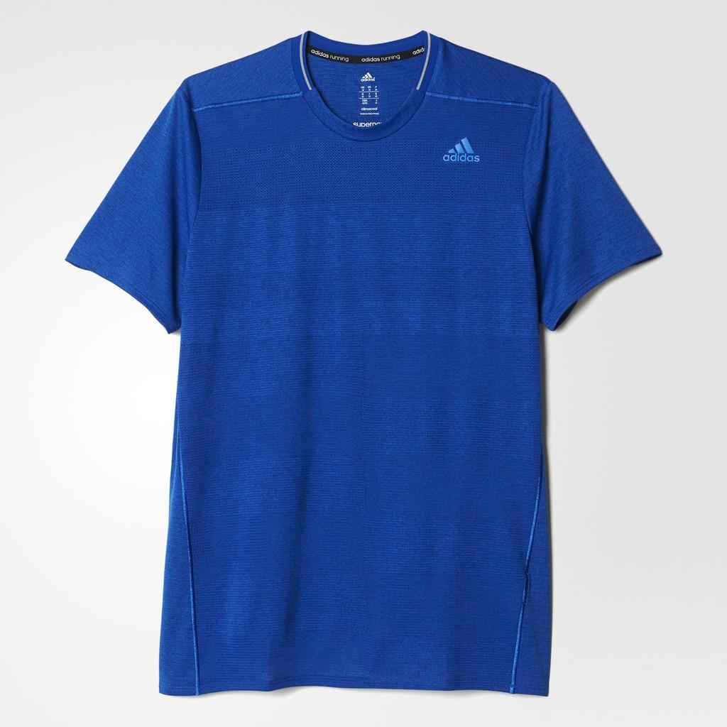 4 21 捕貨5 折專區ADIDAS SUPERNOVA TEE 男生藍色針織 短T S9