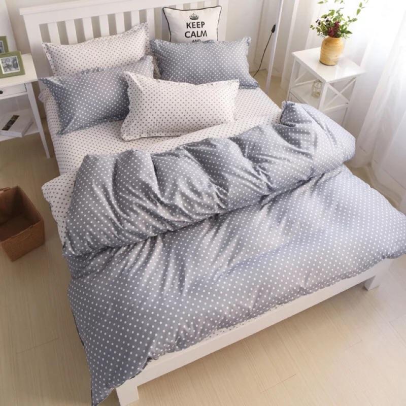 北歐極簡點點四件組床包組極簡風床單床包被套枕套ikea zera 雙人床單人床雙人床加大