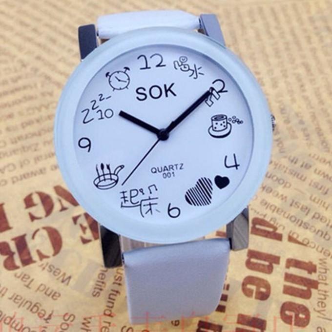 女士韓風 潮流情侶電子皮帶中小學生情侶手錶一對非防水機械錶