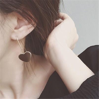 簡約風格U 型OL 風金屬合金心形幾何愛心耳環t84107