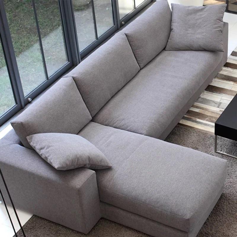 北歐布藝沙發大小戶型 簡約三人貴妃轉角 客廳沙發全拆洗
