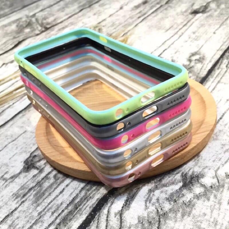 馬卡龍糖果iPhone6s 軟邊框殼蘋果6plus 矽膠外殼4 7 玫瑰金手機邊框ipho