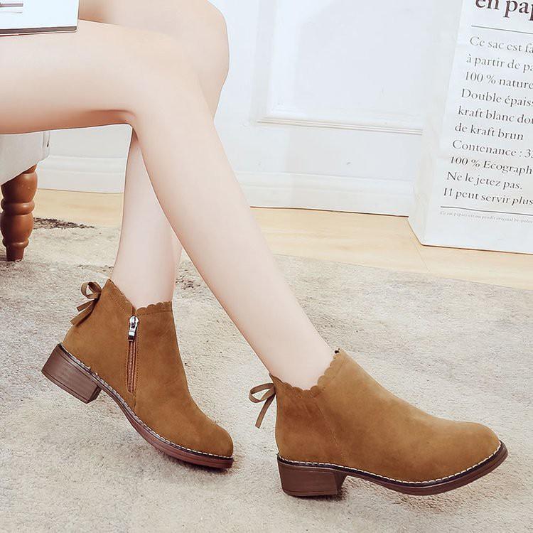 現貨出售訂單滿188出貨Women's shoes, ankle boots, flat boots,size 35-3