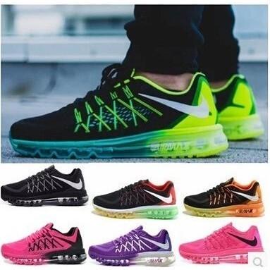 氣墊鞋女韓國女士 鞋情侶跑鞋air max 2016 跑步鞋蜂巢系列全掌氣墊彈力慢跑鞋飛線