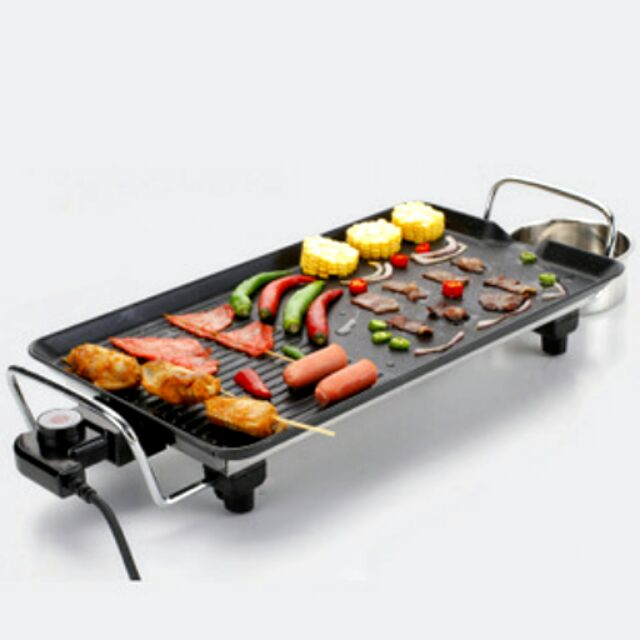 韓式電烤爐燒烤盤加贈轉接頭220V 多 家用電烤盤燒烤爐無煙不粘鍋鐵板