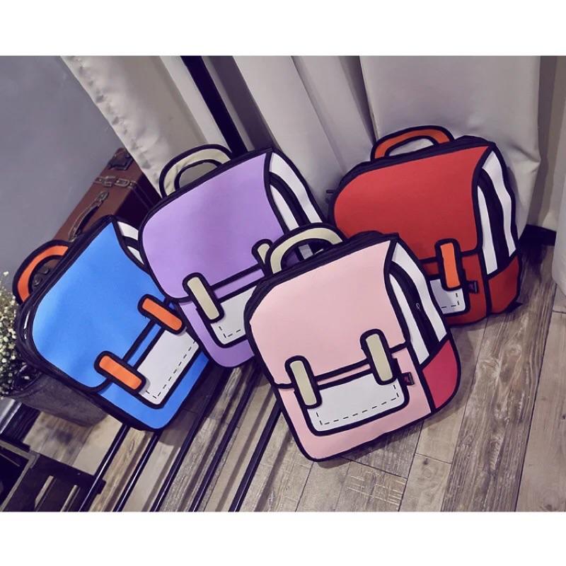 二次元漫畫包2D 立體書包3D 雙肩包背包書包女包 背包