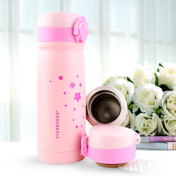 免 星巴克X 膳魔師 限定櫻花粉紅STARBUCKS 保溫杯彈蓋真空隨行杯不鏽鋼櫻花杯象印