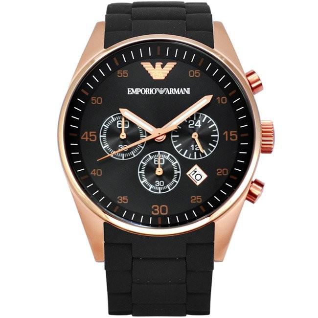 ~兩隻~ 亞曼尼玫金框奢華紳士腕錶阿瑪尼男士石英手錶Armani 男女 情侶對錶平行輸入
