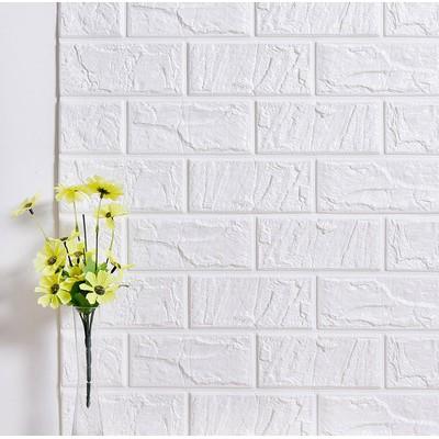 磚紋3d 立體牆貼客廳臥室餐廳裝飾電視背景牆防水自粘牆紙白磚貼紙