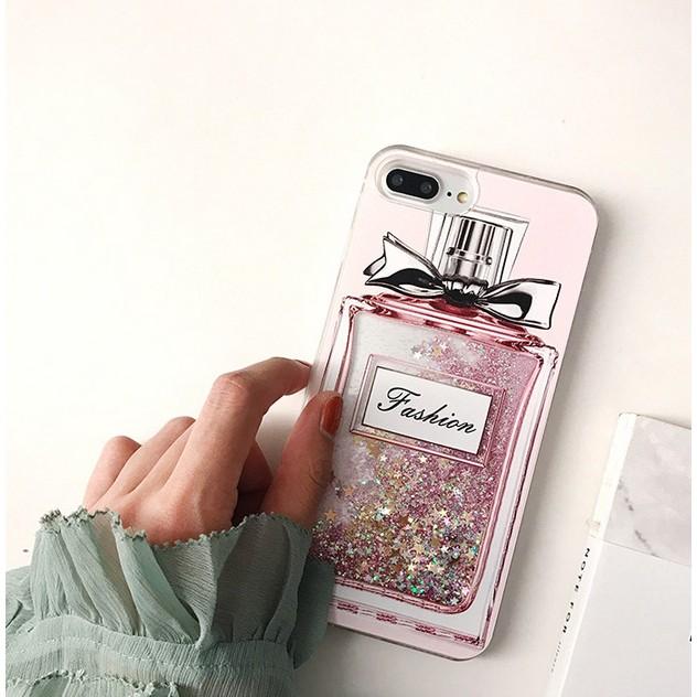 香水瓶流沙閃粉手機殼iPhone 6 7plus