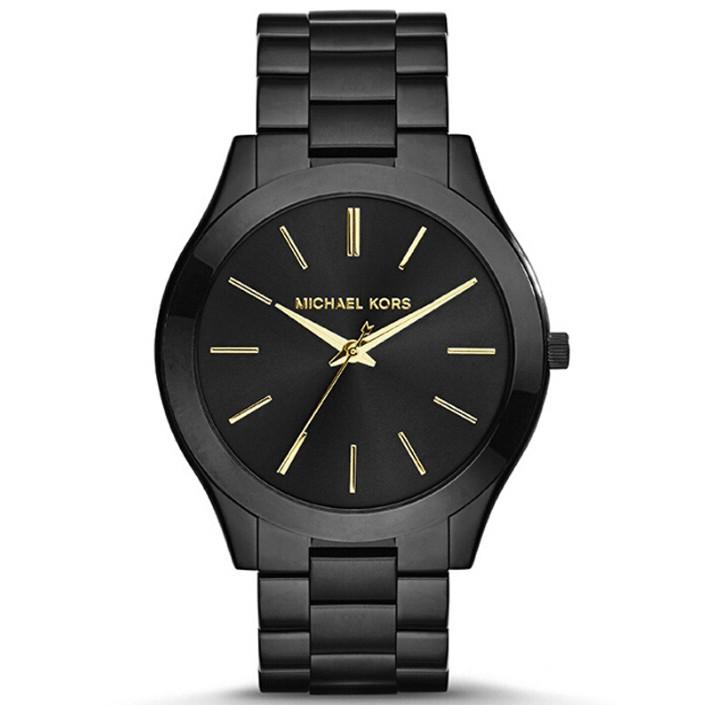 ~如假包退~MICHAEL KORS MK 手錶中性男女錶 黑色 石英腕錶MK3221