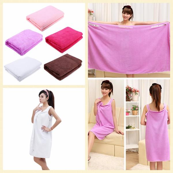 家居 浴巾155 80CM 百變浴巾超細纖維浴裙