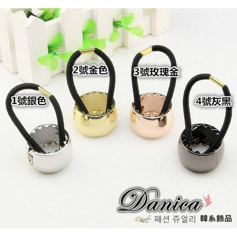 髮束  走秀 潮風 金屬感全框馬尾髮束4 色K7656 價Danica 韓系飾品韓國連線