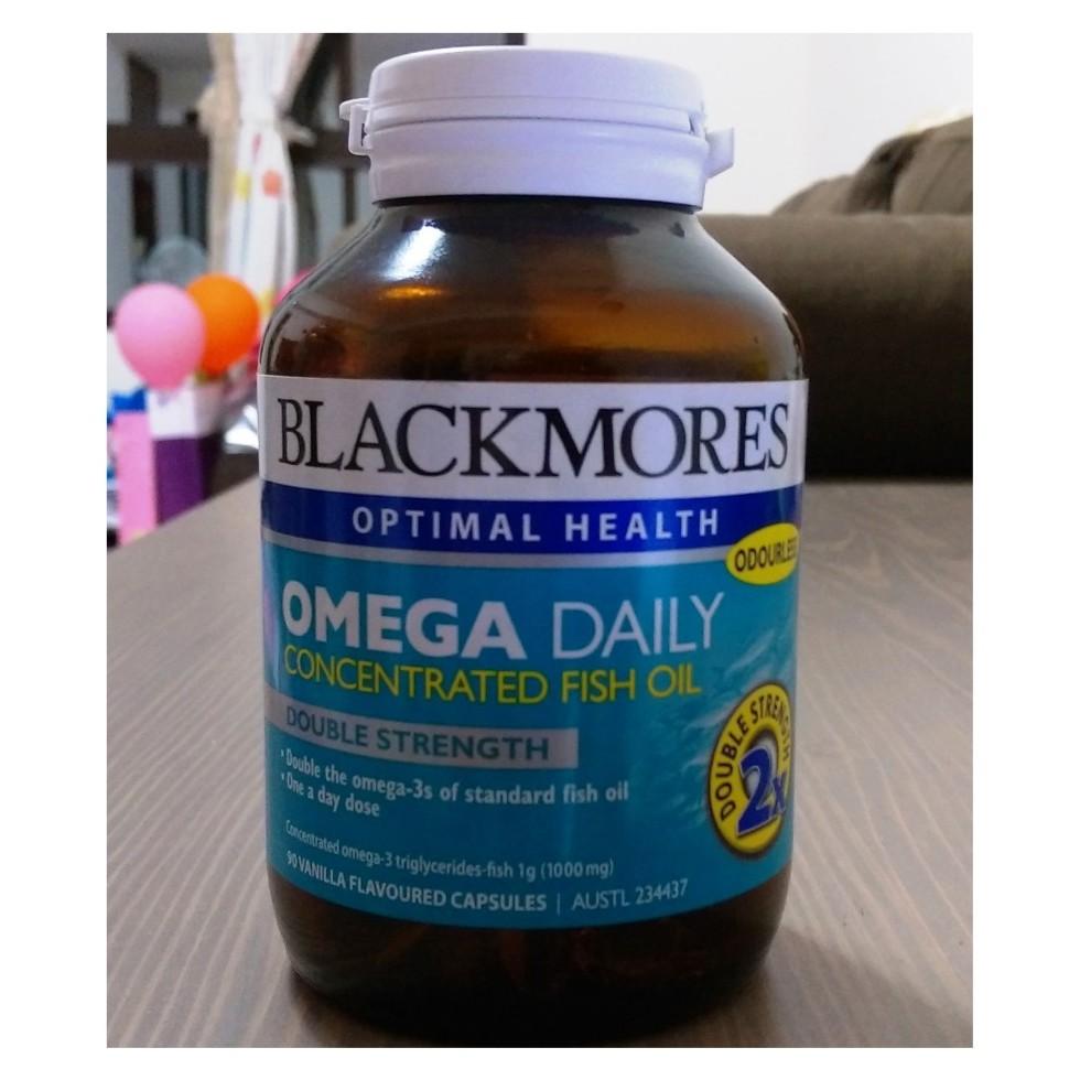 澳洲Blackmores 澳佳寶Omega Daily 濃縮魚油2 倍DHA 90 顆