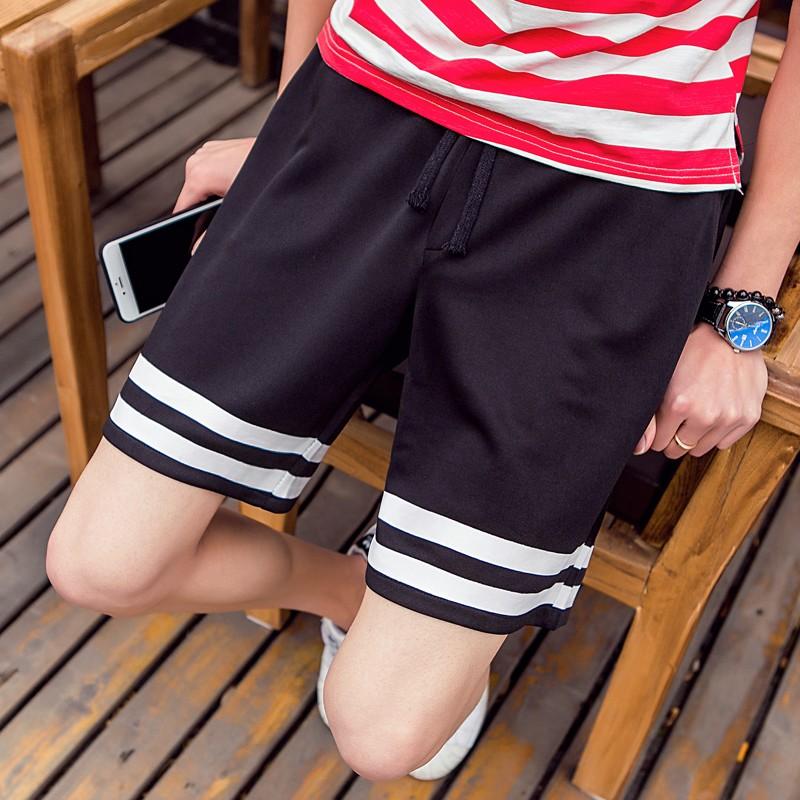 太空棉短褲男五分褲 印花短褲潮款寬鬆棉短褲