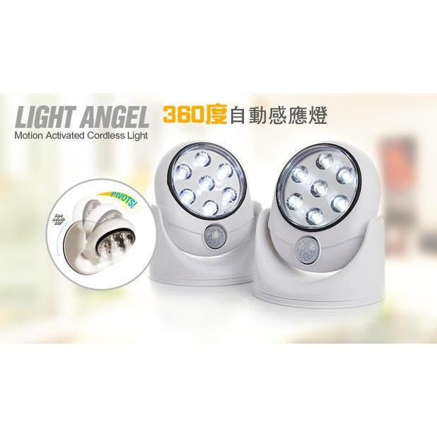㊕光控電池燈圍牆燈人體感應燈360 度旋轉壁燈圍欄燈