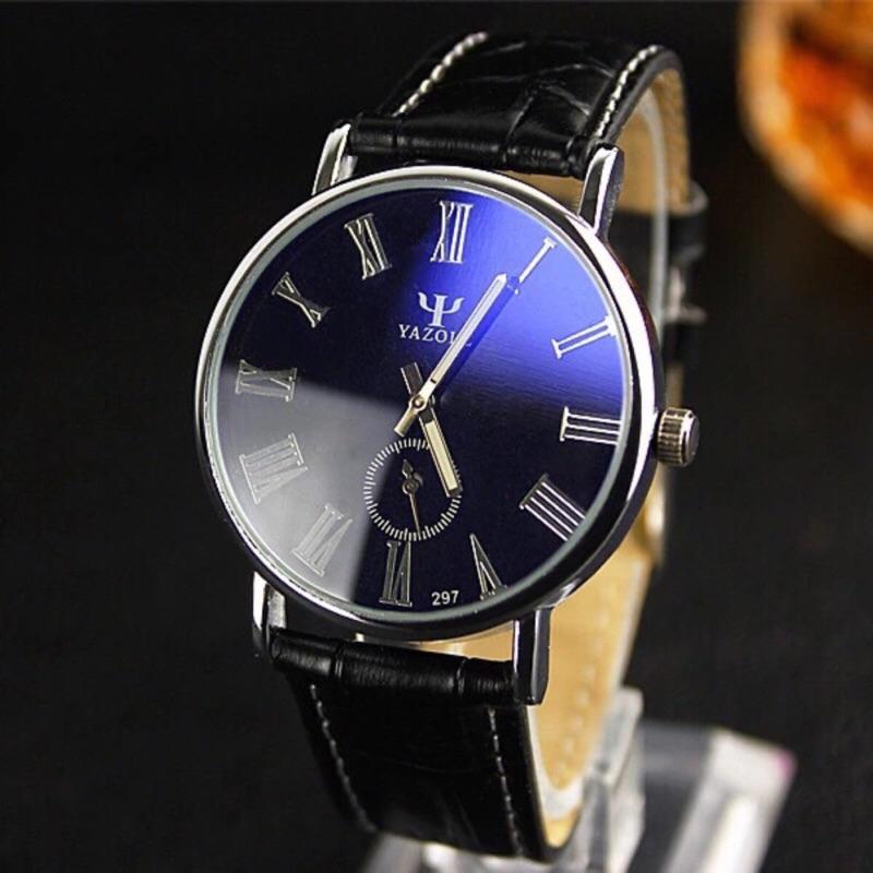 款極致防水日期 男錶閃耀藍光錶夜光錶商務錶圓盤手錶藍光男友款男朋友情人節 三眼錶極簡風格鋼