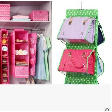 地攤站十層透視包包收納袋掛袋衣櫃懸掛式牛津布布藝包包收納掛袋 160