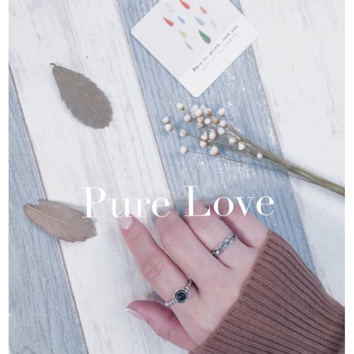 Pure Love 樂芙正韓~R0080 ~韓系簡約925 純銀六股麻花編織開口戒指銀