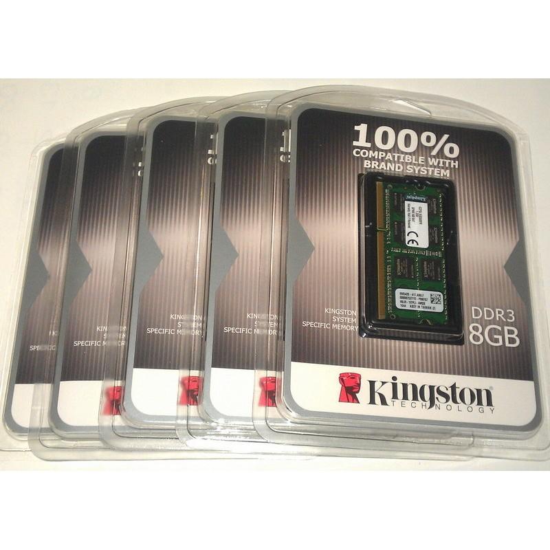 金士頓Kingston DDR3L 1600 8G 8GB 品牌 筆電型記憶體低電壓KCP