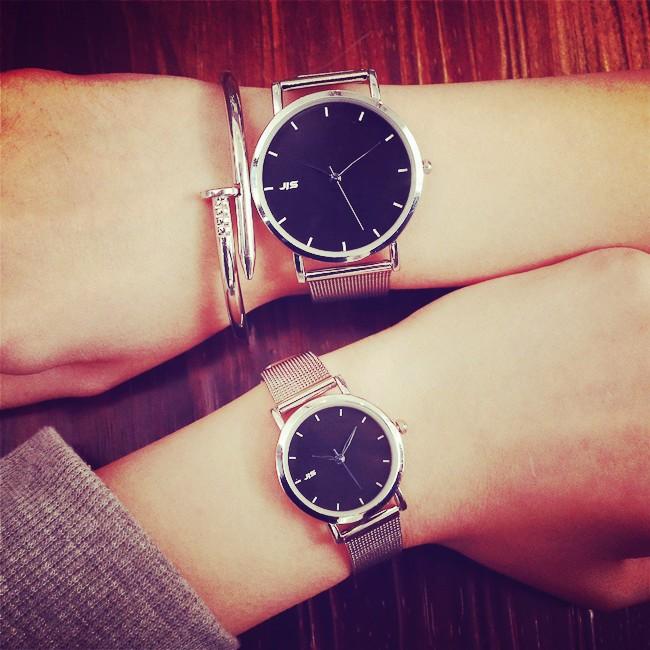 復古鋼絲帶小錶盤文藝簡約小清新百搭潮流休閒學生手錶