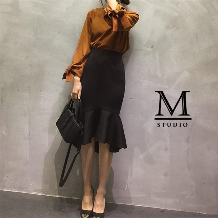 是實拍MISSWEET ~T IGO640207 ~2017 春款新品高端訂製魚尾半身裙.