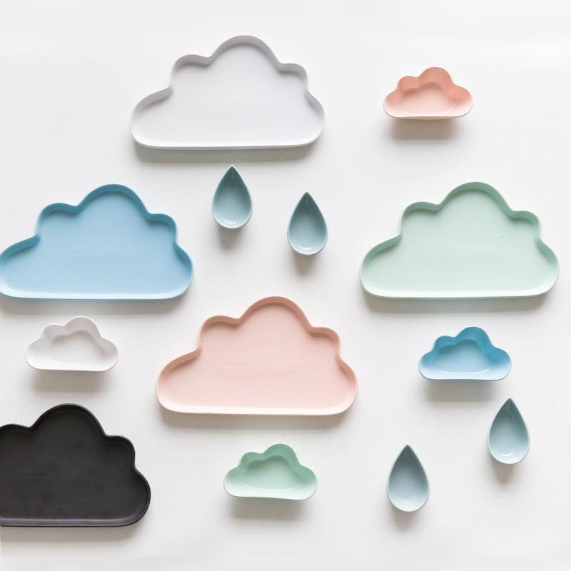 韓國啞光陶瓷雲朵 盤
