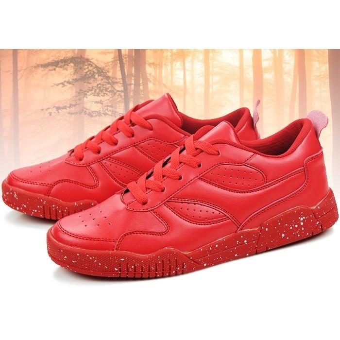 SOLO 賣家秀丶☞最 ☜ 潮男鞋子 休閒鞋紅色潮流男士板鞋學生透氣鞋平板鞋男