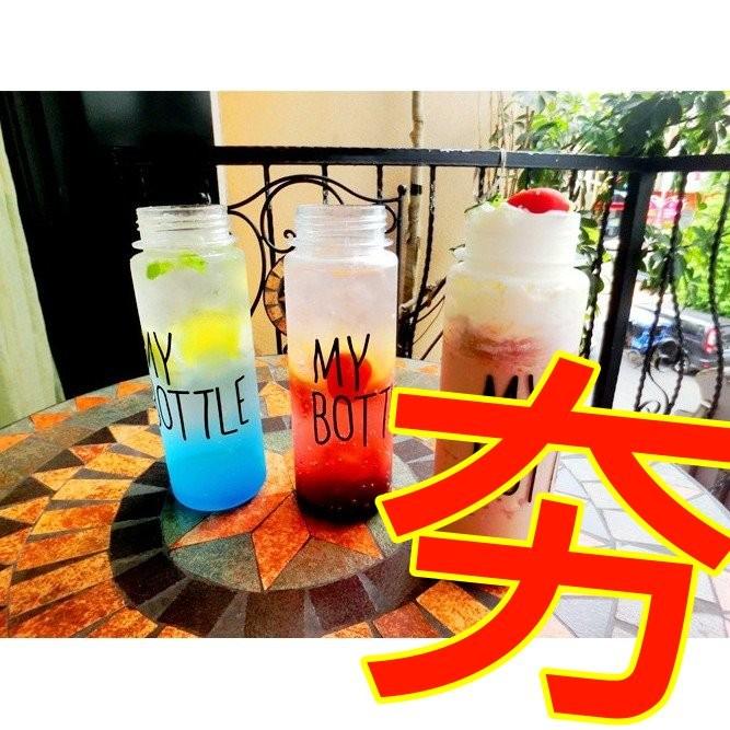 挑戰最 ~玻璃款~My bottle 水壺隨行杯超 35 元全蝦皮最 無毒 500ml
