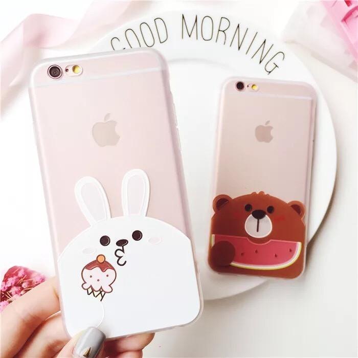 ~84 ~ iPhone 6 iPhone 7 plus 手機殼軟殼膠殼兔兔小熊冰淇淋西瓜