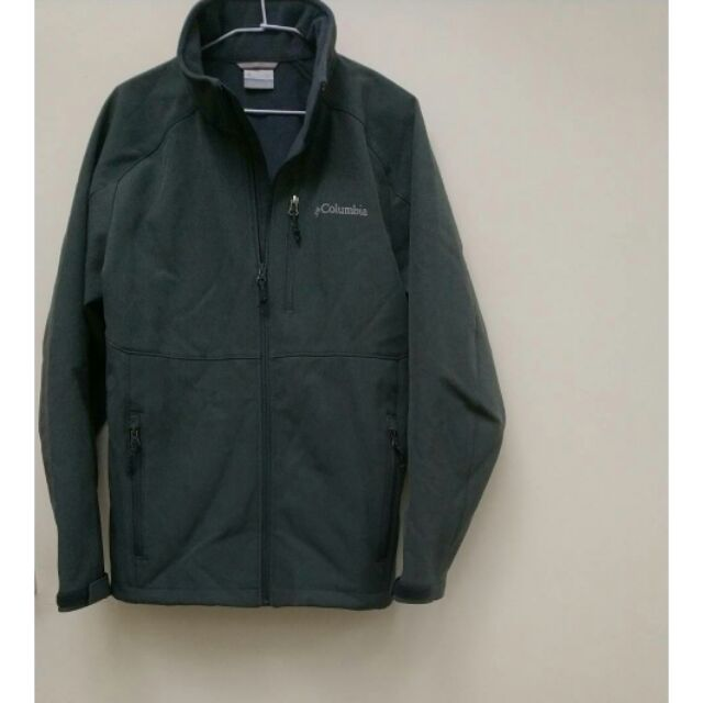 Columbia哥倫比亞 男款 防風軟殼外套,絨毛內裡 M號