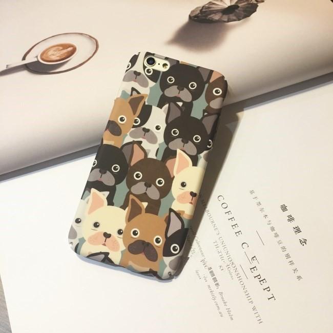 iPhone7 ⃣️可愛Q 版鬥牛犬大集合磨砂硬殼全包蘋果iPhone7 iPhone6