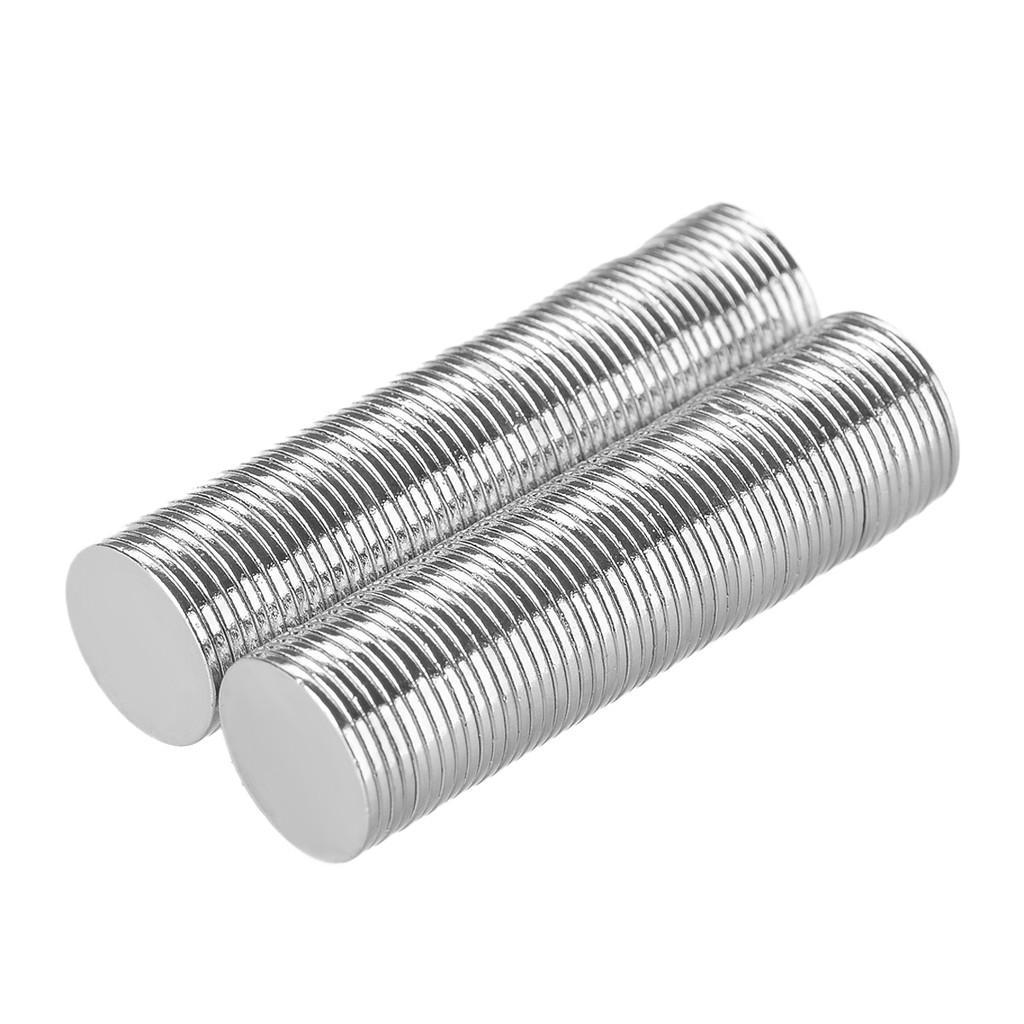 超強Rare Earth 重磁鐵銀色12 毫米×1 毫米100 PC