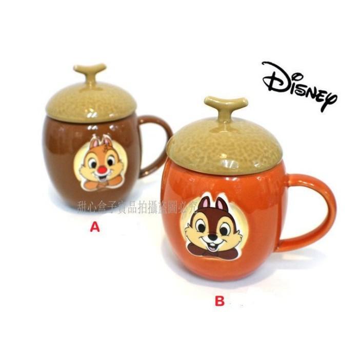 ~甜心盒子~ ㊣版迪士尼Chip n Dale 奇奇蒂蒂對杯馬克杯咖啡杯情侶杯收藏栗子