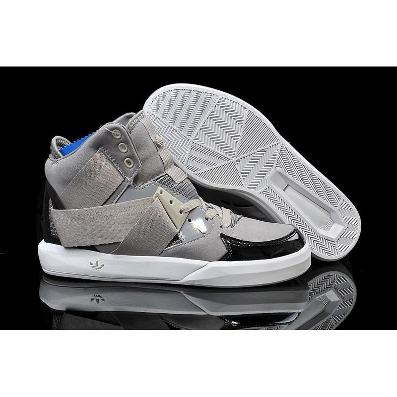 正品adidas Originals 三葉草高筒男鞋滑板鞋