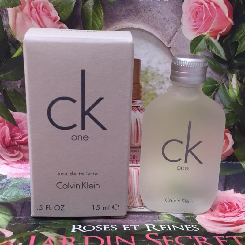 Calvin Klein CK One 中性男性淡香水小香水15ml ( 貨)