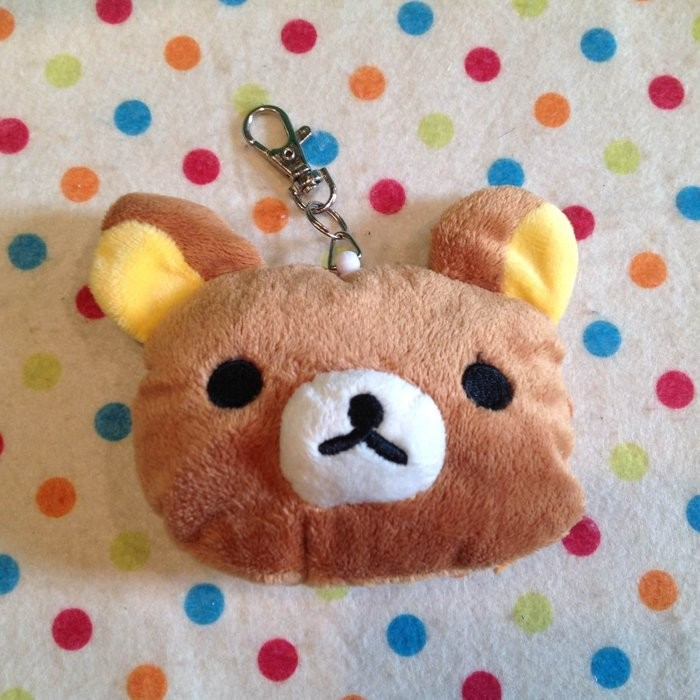 ~ ~ 拉拉熊懶懶熊頭型自動伸縮卡套悠遊卡套吊飾娃娃