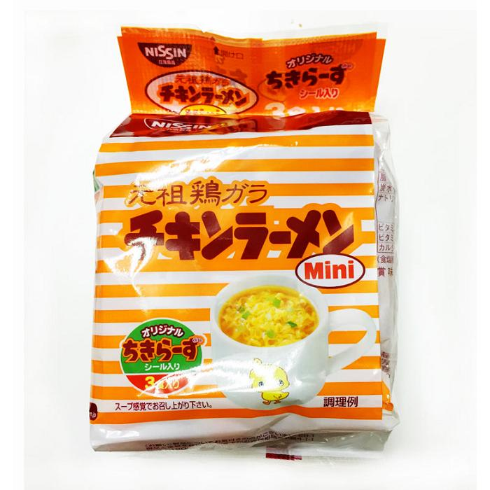 NISSIN 日清元祖雞汁口味迷你泡麵,3 入