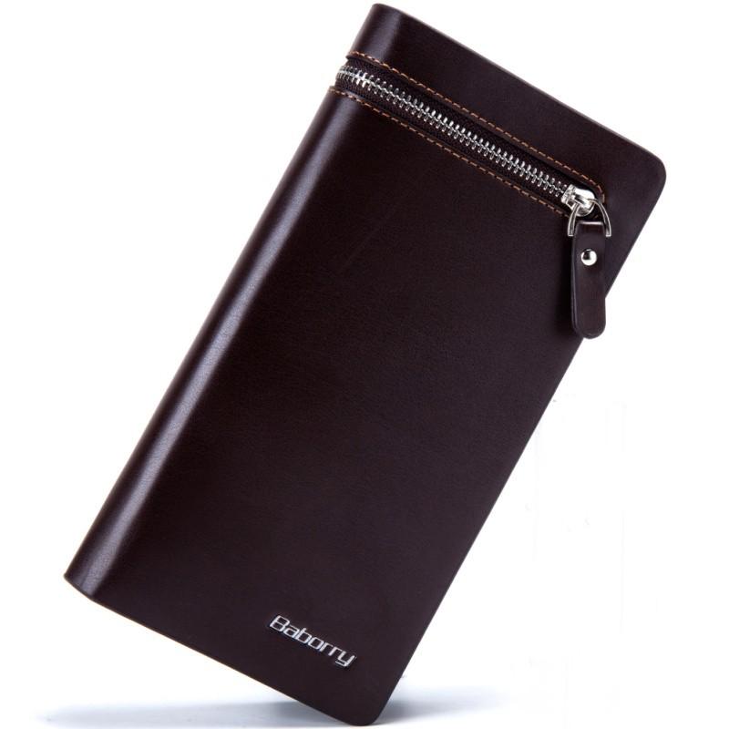 男士手機包男士長款多 大容量拉鍊手拿包多卡位商務錢包