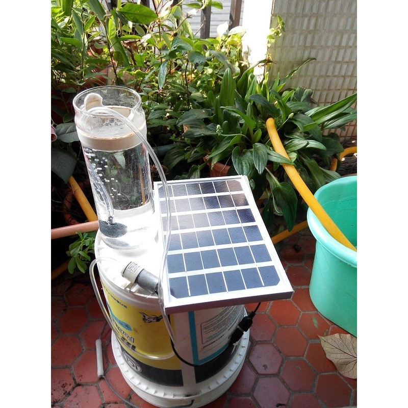9v5w 單晶矽太陽能打氣泵太陽能打氣泵魚池打氣泵魚缸打氣泵太陽能手機充