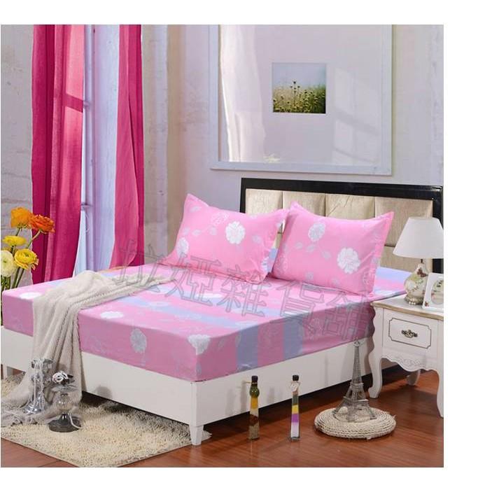 ~雙人加大~床套床單床包防滑床墊套枕頭套三件組寢具用品夢幻花園44