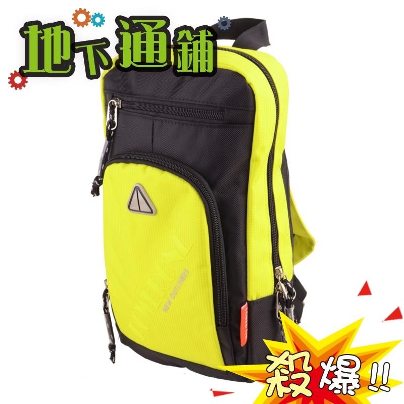 地下通鋪黃色MIT  潮流防潑水小背包兩用式後背包休閒包胸包自行車包USJF380368