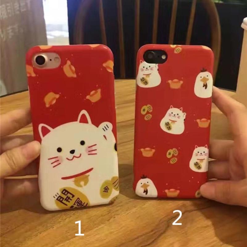 新年開運招財貓軟殼iphone6 6plus iphone7 7plus 手機保護套手機殼