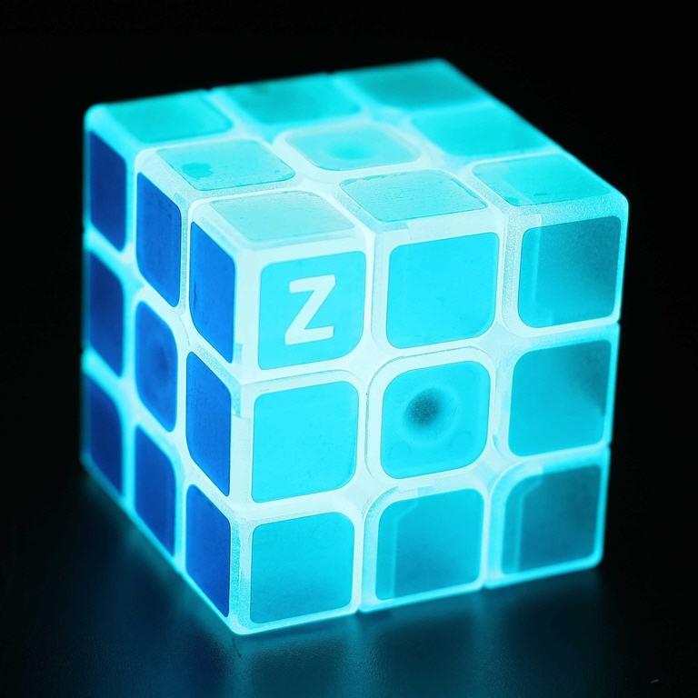 Z cube 夜光藍色三階魔方美型半透明神秘收藏 魔術方塊兒童青少年益智學習啟發開學社團暑